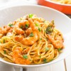 Spicy tomato and shrimp pasta