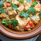 Arroz de tamboril - Rice with monkfish