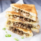 Ground Beef Grilled Cheese Sandwich