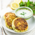 Salmon Fishcakes With Lemon Yoghurt Dip