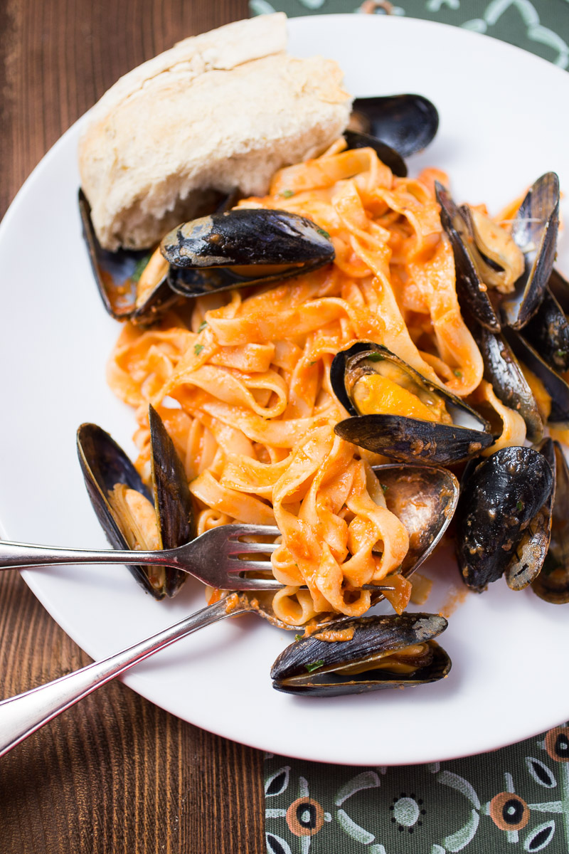 Tagliatelle with Blue Mussels
