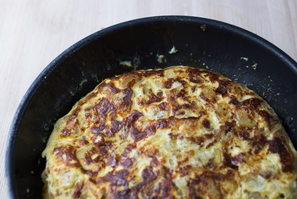 Tortilla with chorizo