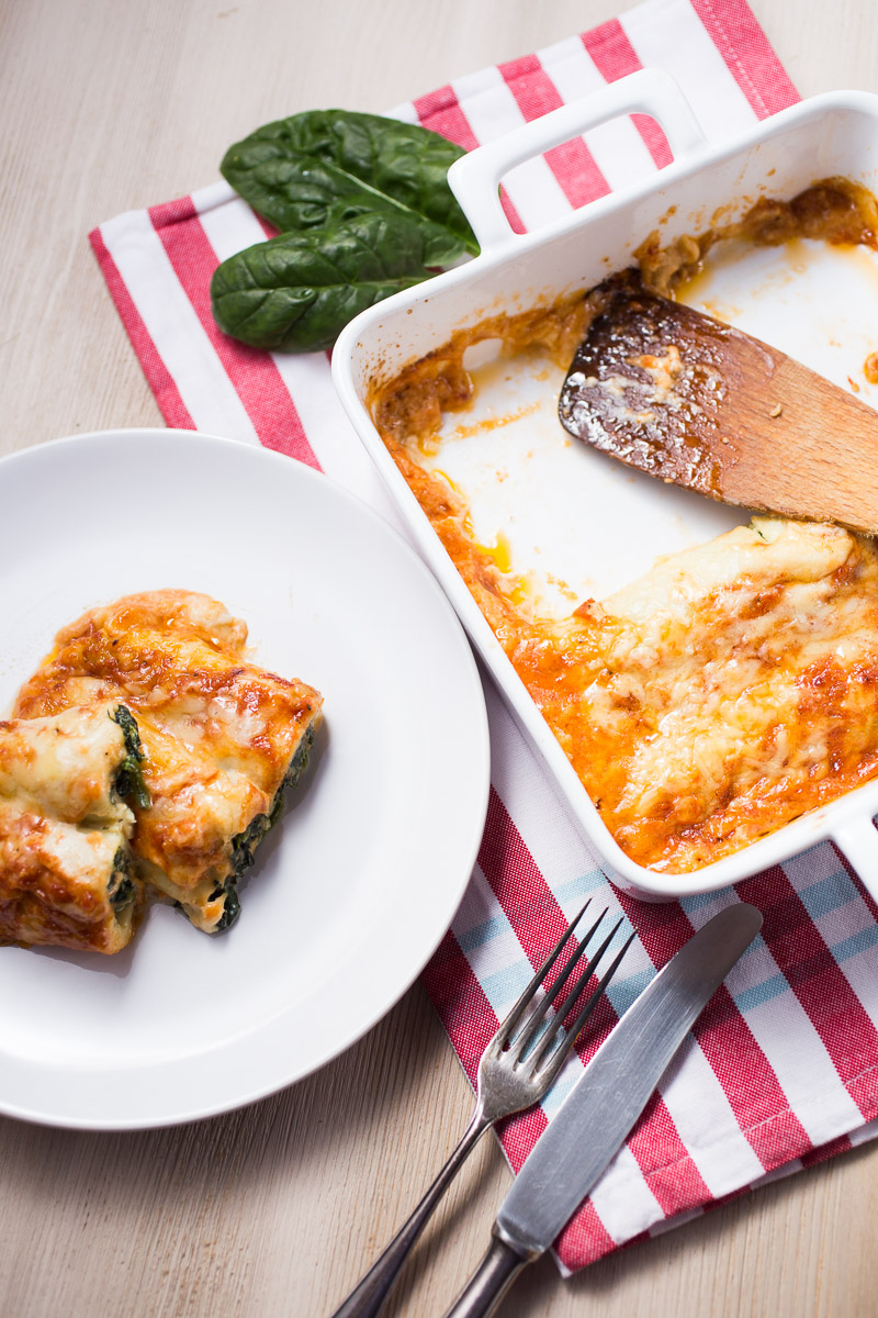Crespelle with ricotta and spinach