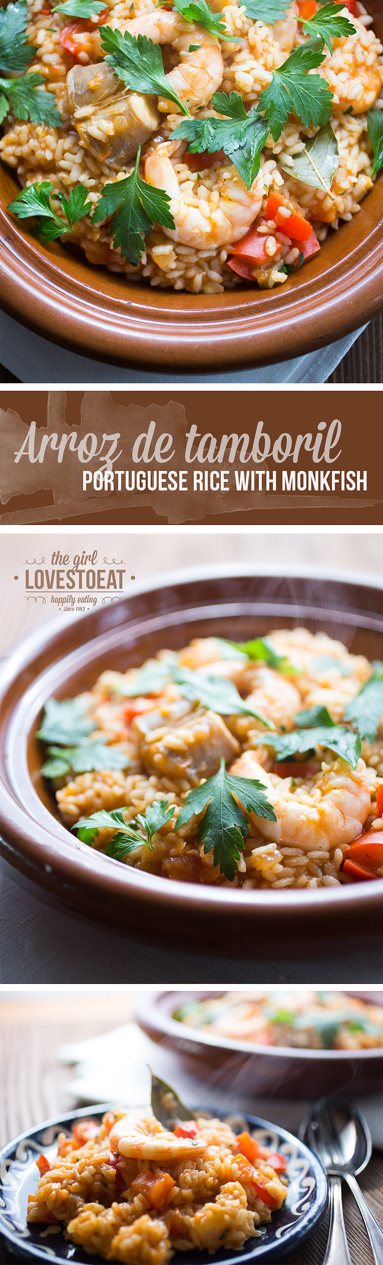 Arroz de tamboril - Portuguese rice with monkfish