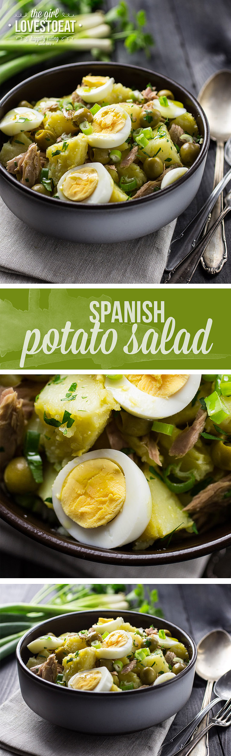 Spanish Potato Salad { thegirllovestoeat.com }