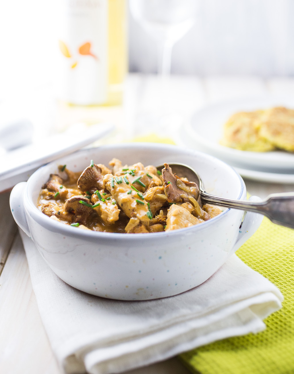 Geschnetzeltes with Chanterelle Mushrooms { thegirllovestoeat.com }