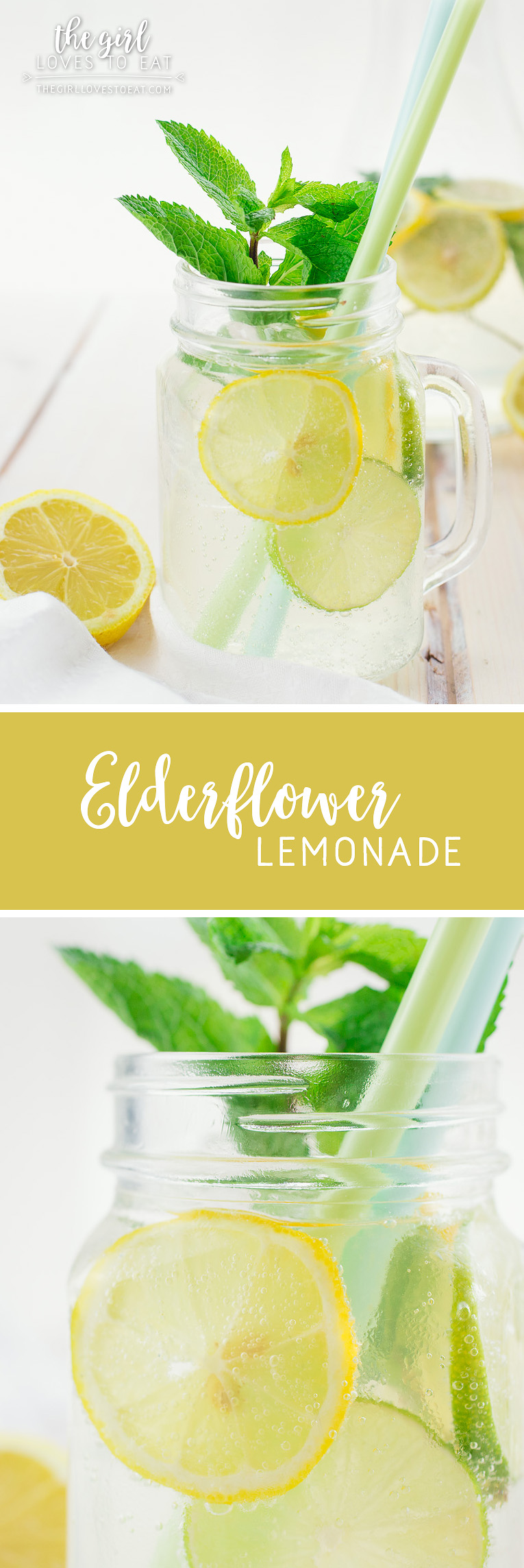 Elderflower lemonade { thegirllovestoeat.com }