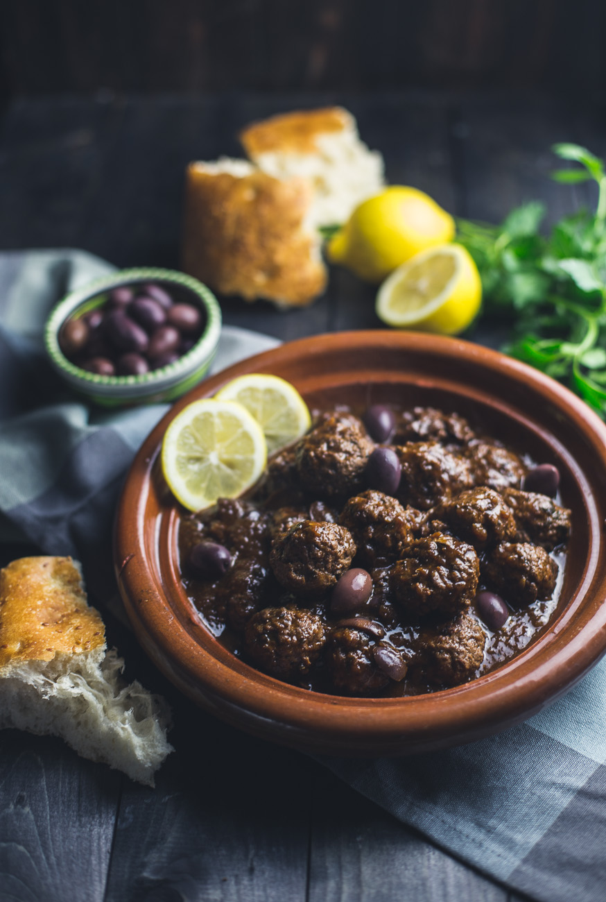 Lamb Meatballs with Lemon and Olives { thegirllovestoeat.com }